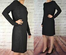NEXT NEW LONG SLEEVED LADIES BLACK COWL BACK SHIFT DRESS 407