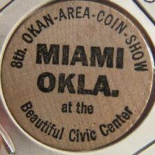 1965 Okan Area Coin Show Miami, OK Wooden Nickel - Token Okla. Oklahoma