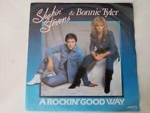 "Shakin Stevens - A Rockin Good Way - 7"" Vinyl Single Record"