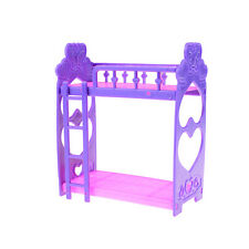 Mini Plastic bed for barbie doll kelly doll play house accessories for girl W&T