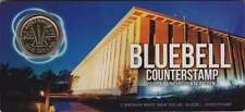 2012 Australia Wheat Sheaf $1 Dollar Coin 'C' Mintmark / Bluebell Counterstamp