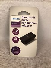 Philips Bluetooth 3.5mm Audio speaker Adapter SHB1008/27 Black-New FactorySealed