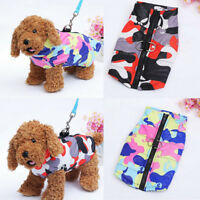 Dog Pet Waterproof Clothes Padded Coat Camouflage Winter Jacket Tops Skiing Vest