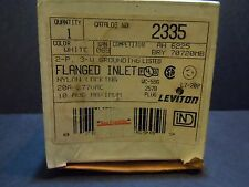 NEMA L7-20P 20A 277V 2 Pole 3 Wire Leviton 2335 Flanged Inlet Equal to HBL2335