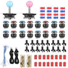 Arcade Spiel Ersatz Set 16x LED Button Taster Knöpfe 2x Joystick 2x USB Encoder