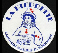 "NORMANDIE / ETIQUETTE DE FROMAGE Camembert ""PIERRETTE"""