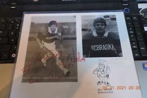 Nebraska Cornhusker - autographed photograph #-87 Bill Weber Herbie Husker