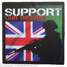 3 pack Ambientador coche diseñado a medida apoyo a nuestras tropas soldado Bandera del Reino Unido