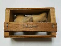 Vintage California Souvenir Seal In Wooden Box