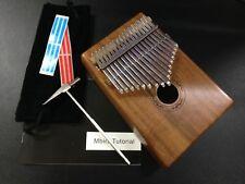 Eard KS-17 Solid Wood Kalimba MBIRA Thumb Piano w/17 Keys,3 Sound Holes