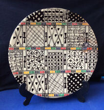 "Hand decorated marble platter 14""/ 36 cm diameter"
