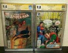 AMAZING SPIDER-MAN #1 BATMAN SUPERMAN #29 BOTH SIGNED NEAL ADAMS CGC GRADED