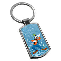 Goofy Keyring Chrome Metal New Key Chain Ring Fob Comes With Free Gift Box