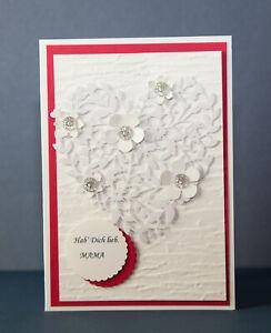 Glückwunschkarten zum Muttertag Mama Oma Gruß Karten Handarbeit 3d