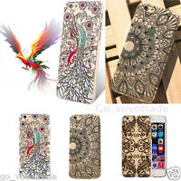 Replacement Peacock Black Flower Plastic Case Cover Skin for iPhone 6s/6 4.7inch