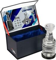 Tampa Bay Lightning 2020 Stanley Cup Champ Crystal Stanley Cup - Filled with Ice