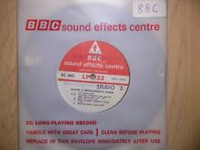 "BBC Sound Effects 7"" Record - Motor & Miscellaneous Horns, Police, Marine, EC88C"
