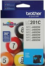 Brother LC201C Standard Yield blue Cyan Ink Cartridge Expires 07/2021