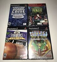 Lot of 4 PlayStation 2 PS2 NEW FACTORY SEALED  Ultimate Board Game, Poker & More