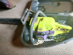 """POULAN Chainsaw Wild Thing Chainsaw18"""" Bar, Chain & Case  wrench extra chain"""