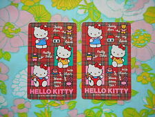 Swap/two/pair of vintage/kitsch game/playing cards - Hello Kitty 1992