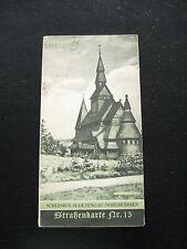 alte Shell Reise Dienst Straßenkarte Nr.13 Schlesien Sudetengau Nordböhmen