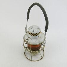 Antique Railroad Lantern White Amber Globe Adlake Kero Railroadiana