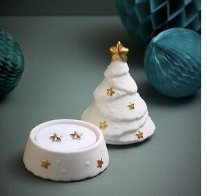 AVON Camila Star Earrings In Christmas Tree Ceramic Pot Festive Gift New