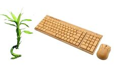 Sale! 50% off! Handmade Wireless Bamboo wooden keyboard Mouse kit USB natural PC
