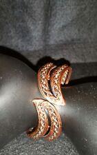 Signed Renoir Copper Clapper Bracelet Mid Century Modern