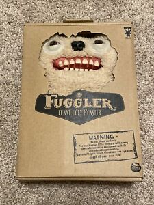NEW SEALED Fuggler Ol Toothblock White Stuffed Animal Funny Ugly Monster Plush