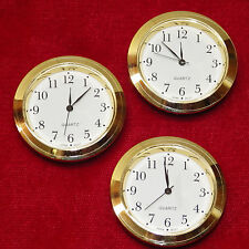 Seiko Mini Insert Clock Movement LOT OF 3 NEW Quartz Battery Fit Up 1 7/16""