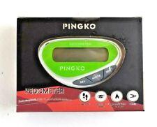 Pingko Pedometer Step Counter Distance & Calorie Measure w/ Belt Clip GREEN