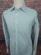Charles Tyrwhitt Classic Men's Blue Green Stripe Button Front Shirt - 17 1/2-36