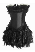 Corsage Kleid Mini Rock Petticoat Gothic schwarz Corsagenkleid Voll Wäschebeutel