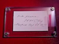 William Wetmore Story signed signature Sculptor Poet 1819-1895 autograph