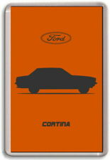 FRIDGE MAGNET - FORD CORTINA Mk 5 - - GRAPHIC CAR ART SILHOUETTE - Large