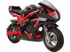 New listing MotoTec Gas Pocket Bike GT 49cc 2-stroke With Red Finish MT-Gas-GT_Red