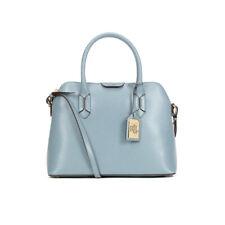 Lauren Ralph Lauren Tate Dome Satchel Leather Crossbody Bag Cameo Blue a5fa4cb0d0