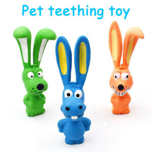 Standing Toy Fun Squeaky Puppy Dog Throw Fetch Chew Play Dog Toys Pet Produc.DB