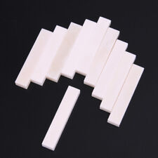 10pcs Guitar Bass Real Blank Bone Nut Material 52mmX6mmX9mm Replacement Parts