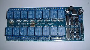 16 way Relay board  for use with UNO/MEGA Rasberry pi  etc 12V supply  UK Seller
