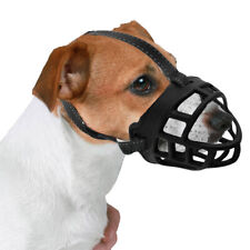 Dog Pet Safety Rubber Mouth Muzzle Adjustable Soft Padded Anti Bite/Chew Basket