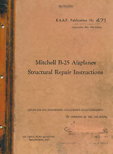 NORTH AMERICAN B-25 MITCHELL - STRUCTURAL REPAIR INSTRUCTIONS 1944