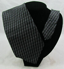 Nautica 100% Silk Neck Tie Navy Blue Modern Geometric Metallic Accent  Wide