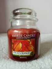 YANKEE CANDLE Medium Jar spiced orange  scented candle new fruit food and spice