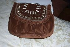 Donna Morbido Effetto Scamosciato Marrone handbag