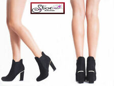 Synthetic Leather Patternless Faux Suede Boots for Women