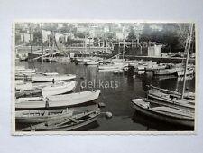 TRIESTE BARCOLA barca vela pesca vecchia cartolina foto 11