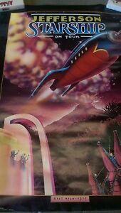 JEFFERSON STARSHIP -  Poster 1977 Pat Ryan Artist ( Airplane Grace Slick )
